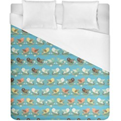 Assorted Birds Pattern Duvet Cover (california King Size) by linceazul