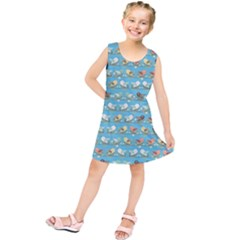 Assorted Birds Pattern Kids  Tunic Dress by linceazul