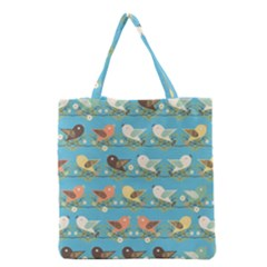 Assorted Birds Pattern Grocery Tote Bag by linceazul