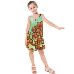 Monarch Butterflies Kids  Sleeveless Dress by linceazul