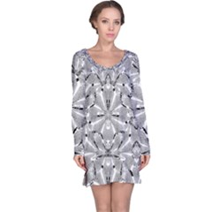 Modern Oriental Ornate Long Sleeve Nightdress by dflcprintsclothing