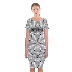 Modern Oriental Ornate Classic Short Sleeve Midi Dress by dflcprintsclothing
