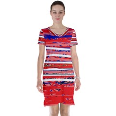 Art Short Sleeve Nightdress