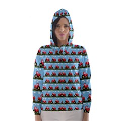 Toy Tractor Pattern Hooded Wind Breaker (women) by linceazul