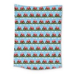 Toy Tractor Pattern Medium Tapestry by linceazul