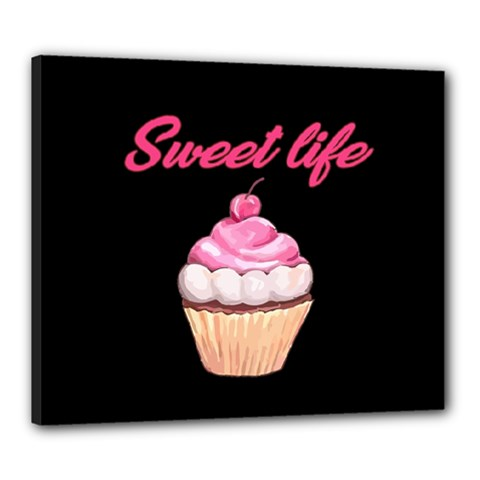 Sweet Life Canvas 24  X 20  by Valentinaart