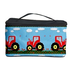 Toy Tractor Pattern Cosmetic Storage Case by linceazul