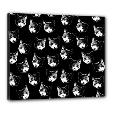 Cat Pattern Canvas 24  X 20  by Valentinaart