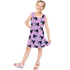 Cat Pattern Kids  Tunic Dress by Valentinaart