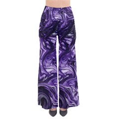 Purple Marbled Palazzo Pants  Pants by MarbledDesign