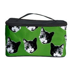 Cat Pattern Cosmetic Storage Case by Valentinaart