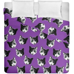 Cat Pattern Duvet Cover Double Side (king Size) by Valentinaart