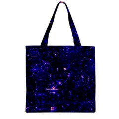 /r/place Indigo Zipper Grocery Tote Bag by rplace