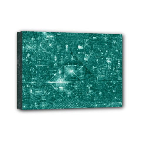 /r/place Emerald Mini Canvas 7  X 5  by rplace