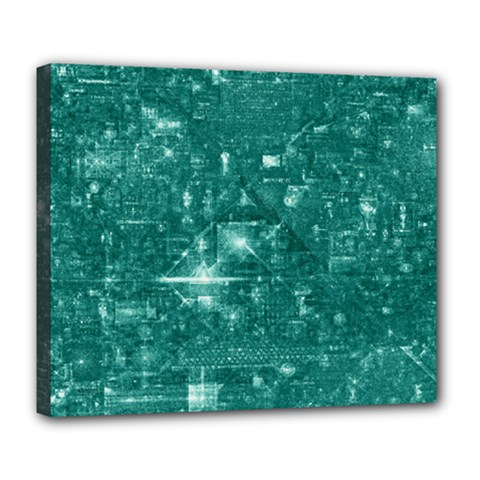 /r/place Emerald Deluxe Canvas 24  X 20   by rplace