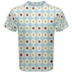 Ladybugs Pattern Men s Cotton Tee by linceazul