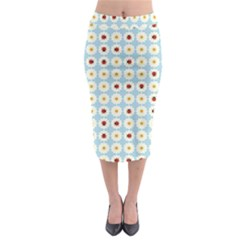 Ladybugs Pattern Midi Pencil Skirt by linceazul