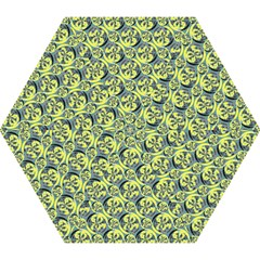 Black And Yellow Pattern Mini Folding Umbrellas by linceazul
