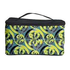 Black And Yellow Pattern Cosmetic Storage Case by linceazul
