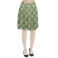 Black And Yellow Pattern Pleated Skirt by linceazul