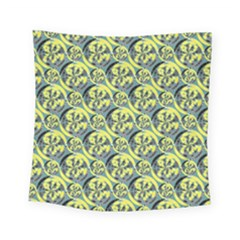 Black And Yellow Pattern Square Tapestry (small) by linceazul