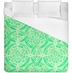 Kiwi Green Geometric Duvet Cover (king Size) by linceazul