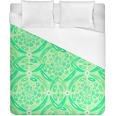 Kiwi Green Geometric Duvet Cover (california King Size) by linceazul