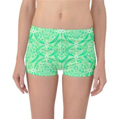 Kiwi Green Geometric Reversible Bikini Bottoms by linceazul