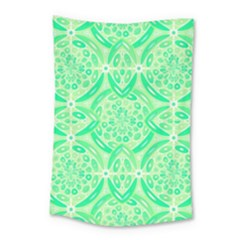Kiwi Green Geometric Small Tapestry by linceazul