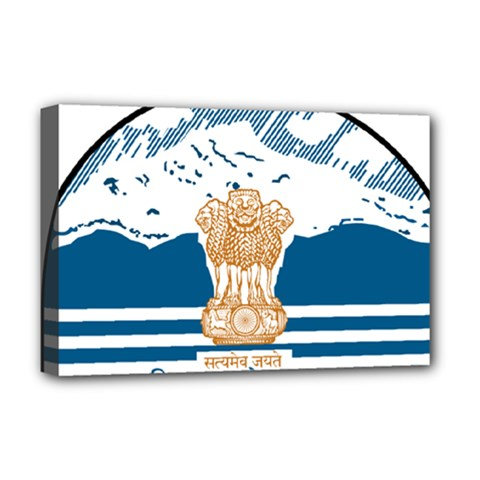Seal Of Indian Sate Of Himachal Pradesh Deluxe Canvas 18  X 12   by abbeyz71