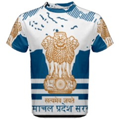 Seal Of Indian Sate Of Himachal Pradesh Men s Cotton Tee by abbeyz71