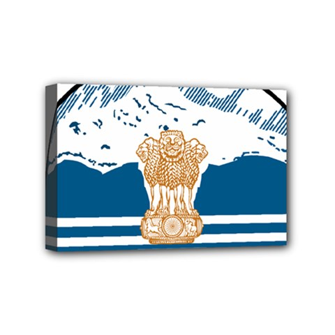 Seal Of Indian Sate Of Himachal Pradesh Mini Canvas 6  X 4  by abbeyz71