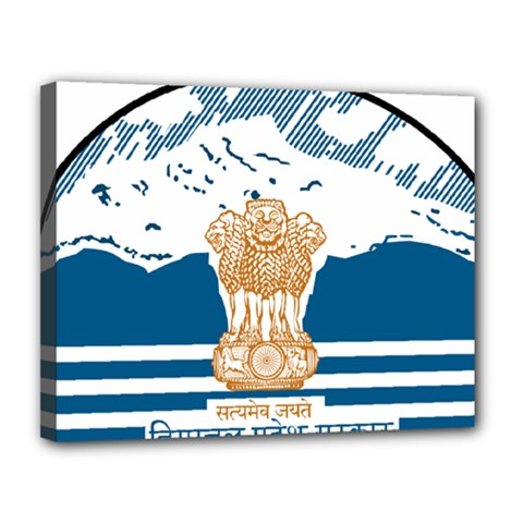 Seal Of Indian Sate Of Himachal Pradesh Canvas 14  X 11  by abbeyz71