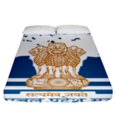 Seal Of Indian Sate Of Himachal Pradesh Fitted Sheet (king Size) by abbeyz71