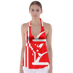 Flag Of Indian State Of Jammu And Kashmir  Babydoll Tankini Top by abbeyz71