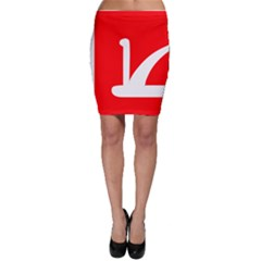 Flag Of Indian State Of Jammu And Kashmir Bodycon Skirt by abbeyz71
