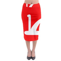 Flag Of Indian State Of Jammu And Kashmir Midi Pencil Skirt by abbeyz71