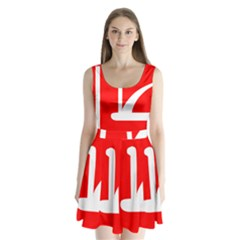 Flag Of Indian State Of Jammu And Kashmir Split Back Mini Dress  by abbeyz71