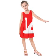 Flag Of Indian State Of Jammu And Kashmir Kids  Sleeveless Dress by abbeyz71