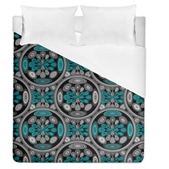 Geometric Arabesque Duvet Cover (queen Size) by linceazul