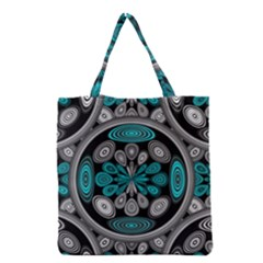 Geometric Arabesque Grocery Tote Bag by linceazul