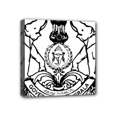Seal Of Indian State Of Kerala  Mini Canvas 4  X 4  by abbeyz71
