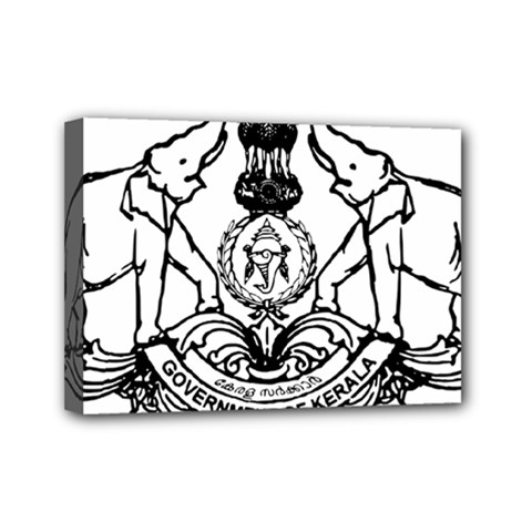 Seal Of Indian State Of Kerala Mini Canvas 7  X 5  by abbeyz71