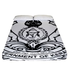 Seal Of Indian State Of Kerala Fitted Sheet (king Size) by abbeyz71