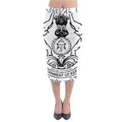 Seal Of Indian State Of Kerala Midi Pencil Skirt by abbeyz71