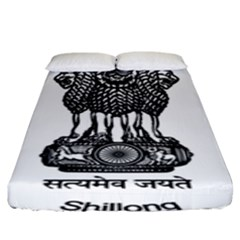 Seal Of Indian State Of Meghalaya Fitted Sheet (king Size) by abbeyz71
