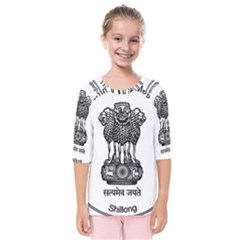 Seal Of Indian State Of Meghalaya Kids  Quarter Sleeve Raglan Tee