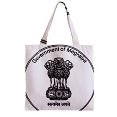 Seal Of Indian State Of Meghalaya Zipper Grocery Tote Bag by abbeyz71