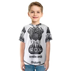 Seal Of Indian State Of Meghalaya Kids  Sport Mesh Tee
