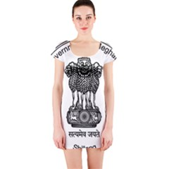 Seal Of Indian State Of Meghalaya Short Sleeve Bodycon Dress by abbeyz71